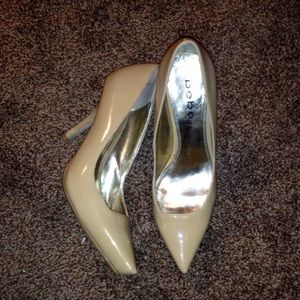 Bebe Nude Patent Leather Pumps